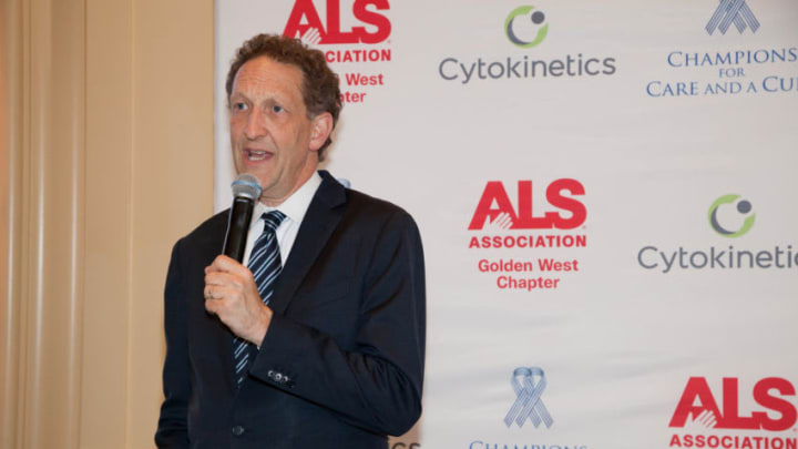 SAN FRANCISCO, CA - JUNE 03: Larry Baer, President & CEO of the San Francisco Giants, makes a speech to event guests at The InterContinental Mark Hopkins on June 3, 2016 in San Francisco, California. (Photo by Kelly Sullivan/Getty Images for ALS Association Golden West Chapter)