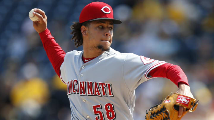 PITTSBURGH, PA – JUNE 16: Luis Castillo #58 of the Cincinnati Reds pitches in the first inning against the Pittsburgh Pirates at PNC Park on June 16, 2018 in Pittsburgh, Pennsylvania. (Photo by Justin K. Aller/Getty Images)