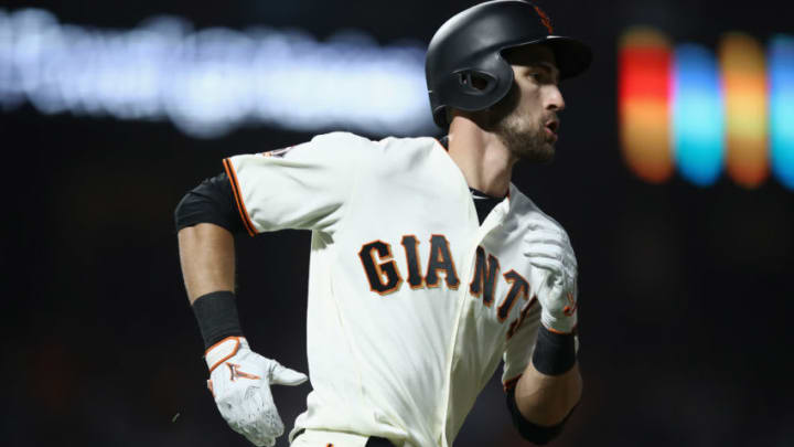 Giants outfielder Steven Duggar. (Photo by Ezra Shaw/Getty Images)