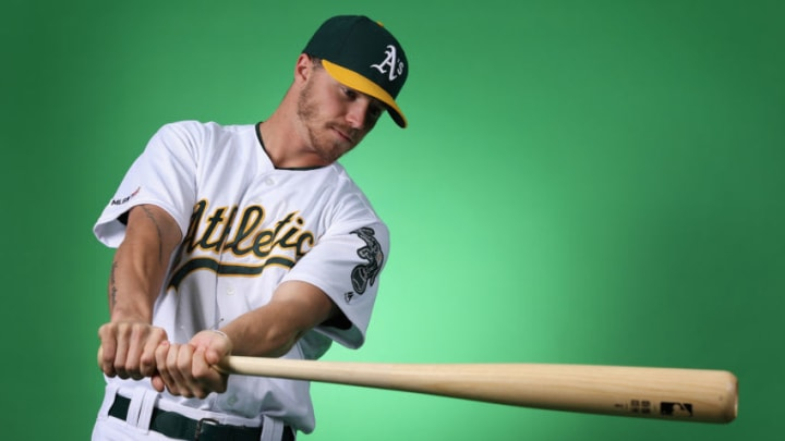 MESA, ARIZONA - FEBRUARY 19: Skye Bolt #72 of the Oakland Athletics poses for a portrait during photo day at HoHoKam Stadium on February 19, 2019 in Mesa, Arizona. (Photo by Christian Petersen/Getty Images)