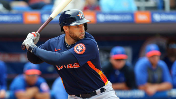 George Springer of the Houston Astros (Photo by Rich Schultz/Getty Images)