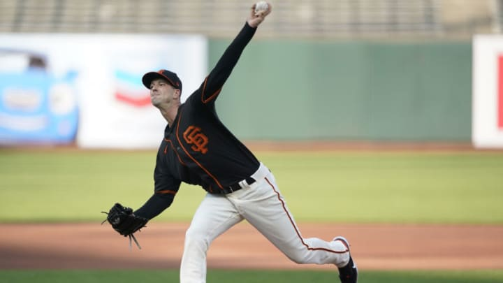 The SF Giants have already lost starting pitcher Drew Smyly in free agency and now must look to replace him this offseason. (Photo by Thearon W. Henderson/Getty Images)