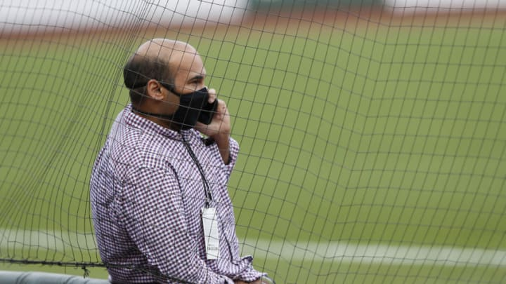 SF Giants President of Baseball Operations Farhan Zaidi. (Photo by Lachlan Cunningham/Getty Images)