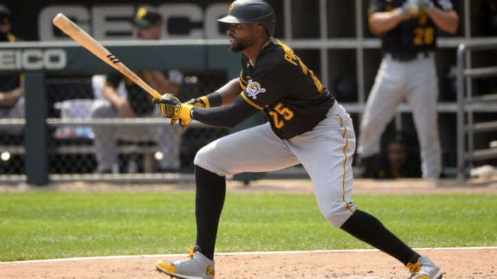 The SF Giants could help the Cleveland Indians acquire Pittsburgh Pirates outfielder Gregory Polanco. (Photo by Ron Vesely/Getty Images)
