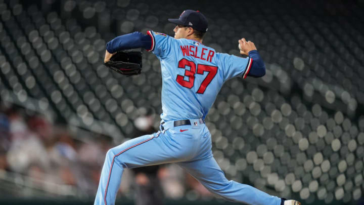 MINNEAPOLIS, MN - SEPTEMBER 12: Matt Wisler #37 of the Minnesota Twins pitches against the Cleveland Indians on September 12, 2020 at Target Field in Minneapolis, Minnesota. (Photo by Brace Hemmelgarn/Minnesota Twins/Getty Images)