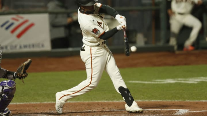 SF Giants outfielder Luis Basabe was designated for assignment to clear a roster spot for Tommy La Stella. (Photo by Lachlan Cunningham/Getty Images)