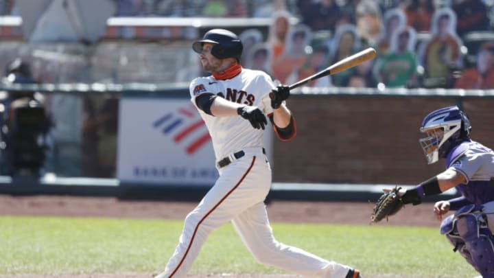 Could SF Giants outfielder Austin Slater be the team's everyday answer in center? (Photo by Lachlan Cunningham/Getty Images)