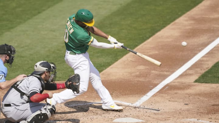 Marcus Semien #10 of the Oakland Athletics could be an SF Giants free-agent target this winter. (Photo by Thearon W. Henderson/Getty Images)