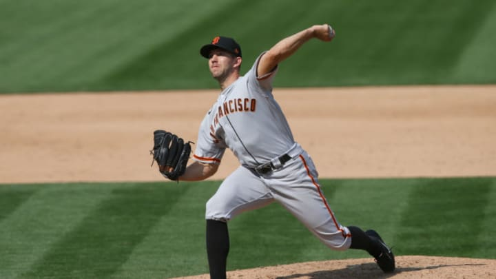The SF Giants non-tendered southpaw starter Tyler Anderson giving them even less depth at the position. (Photo by Michael Zagaris/Oakland Athletics/Getty Images)