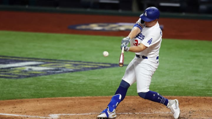 ARLINGTON, TEXAS - OCTOBER 18: Joc Pederson #31 of the Los Angeles Dodgers could be one of many players in the World Series who fits the SF Giants. (Photo by Ronald Martinez/Getty Images)