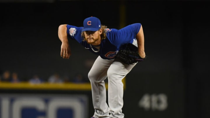 PHOENIX, ARIZONA - JULY 16: Craig Kimbrel #46 of the Chicago Cubs delivers a ninth inning pitch against the Arizona Diamondbacks at Chase Field on July 16, 2021 in Phoenix, Arizona. Cubs won 5-1. (Photo by Norm Hall/Getty Images)