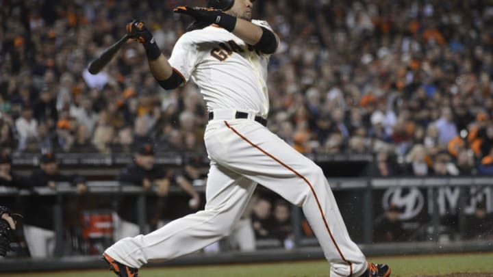 SAN FRANCISCO, CA - AUGUST 14: Melky Cabrera #53 of the San Francisco Giants bats against the Washington Nationals at AT&T Park on August 14, 2012 in San Francisco, California. The Giants won the game 6-1. (Photo by Thearon W. Henderson/Getty Images)
