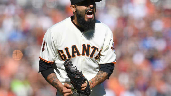 Sergio Romo during his time with the SF Giants. (Photo by Thearon W. Henderson/Getty Images)