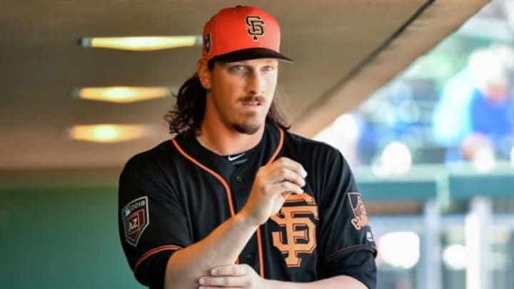 SCOTTSDALE, AZ – MARCH 09: Jeff Samardzija #29 of the San Francisco Giants walks through the dugout prior to the spring training game against the Seattle Mariners at Scottsdale Stadium on March 9, 2018 in Scottsdale, Arizona. (Photo by Jennifer Stewart/Getty Images)