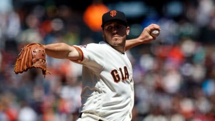SAN FRANCISCO, CA – APRIL 29: Ty Blach #50 of the San Francisco Giants pitches against the Los Angeles Dodgers during the first inning at AT&T Park on April 29, 2018 in San Francisco, California. (Photo by Jason O. Watson/Getty Images)
