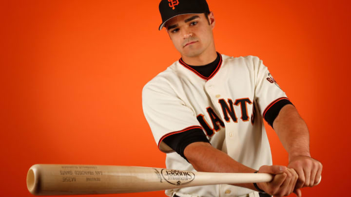 SCOTTSDALE, AZ - FEBRUARY 27: Aramis Garcia #77 of the San Francisco Giants poses for a portrait during spring training photo day at Scottsdale Stadium on February 27, 2015 in Scottsdale, Arizona. (Photo by Christian Petersen/Getty Images)
