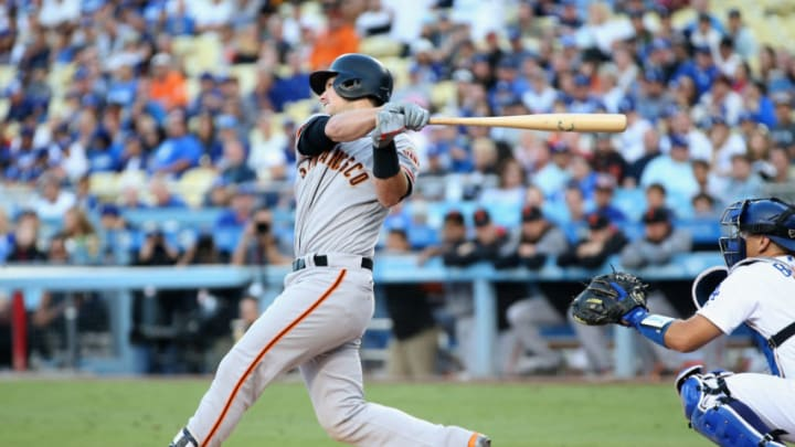 LOS ANGELES, CA - SEPTEMBER 23: Buster Posey