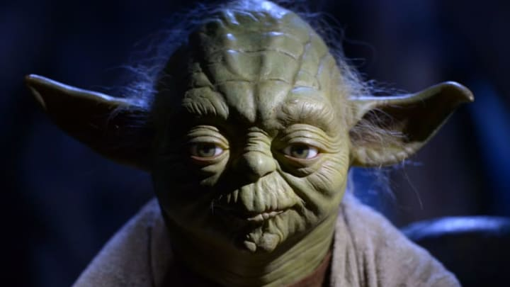 LONDON, ENGLAND - MAY 12: A wax figure of Star Wars character Yoda on display at 'Star Wars At Madame Tussauds' on May 12, 2015 in London, England. (Photo by Stuart C. Wilson/Getty Images)