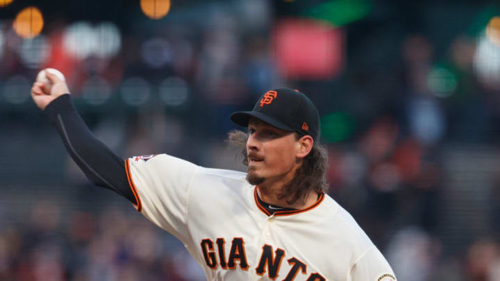 SAN FRANCISCO, CA - MAY 17: Jeff Samardzija #29 of the San Francisco Giants pitches against the Colorado Rockies during the first inning at AT&T Park on May 17, 2018 in San Francisco, California. (Photo by Jason O. Watson/Getty Images)
