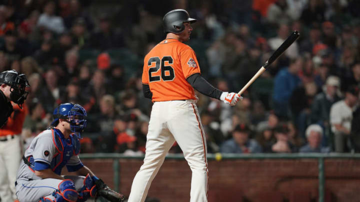 Giants outfielder Chris Shaw. (Photo by Thearon W. Henderson/Getty Images)