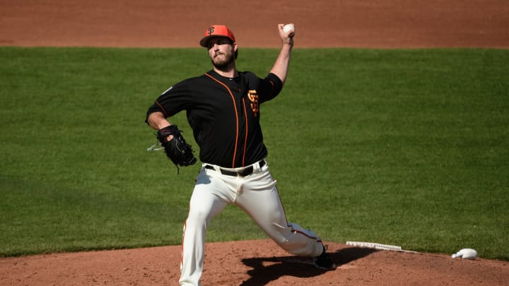 SCOTTSDALE, ARIZONA – FEBRUARY 25: Drew Pomeranz #37 of the San Francisco Giants delivers a pitch during the spring game against the Chicago White Sox at Scottsdale Stadium on February 25, 2019 in Scottsdale, Arizona. (Photo by Jennifer Stewart/Getty Images)