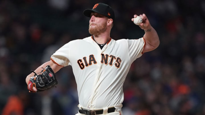 SAN FRANCISCO, CA - MAY 01: Will Smith #13 of the San Francisco Giants pitches against the Los Angeles Dodgers in the top of the ninth inning of a Major League Baseball game at Oracle Park on May 1, 2019 in San Francisco, California. The Giants won the game 2-1. (Photo by Thearon W. Henderson/Getty Images)