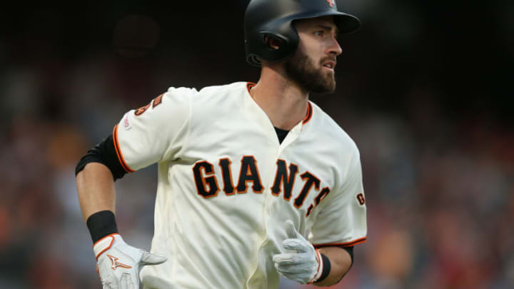 Steven Duggar of the SF Giants. (Photo by Lachlan Cunningham/Getty Images)