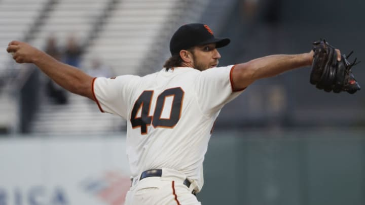 Former Giants ace Madison Bumgarner. (Photo by Stephen Lam/Getty Images)