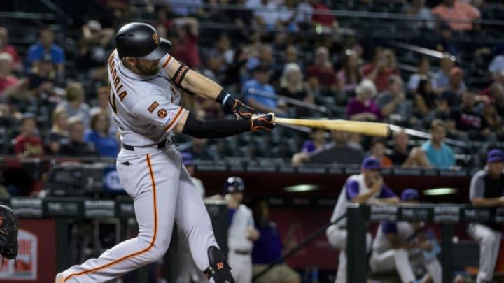 SF Giants third baseman Evan Longoria. (Photo by Jennifer Stewart/Getty Images)
