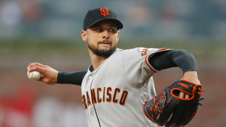 Giants pitcher Tyler Beede. (Photo by Todd Kirkland/Getty Images)