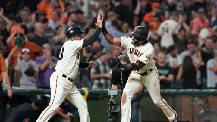 SF Giants outfielder Jaylin Davis. (Photo by Thearon W. Henderson/Getty Images)