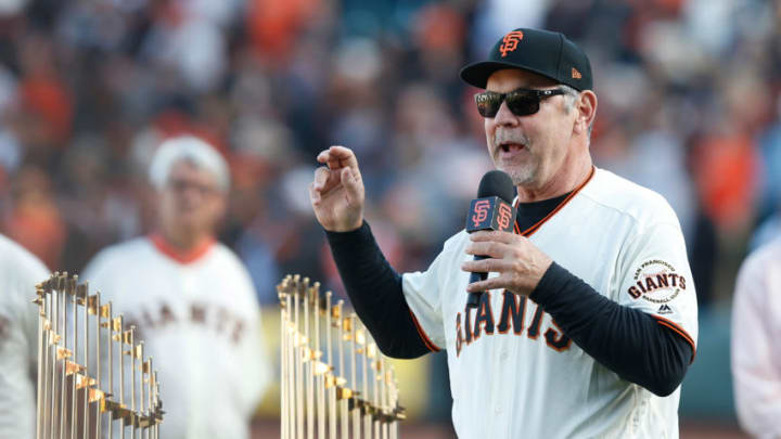 Former Giants manager Bruce Bochy. (Photo by Lachlan Cunningham/Getty Images)