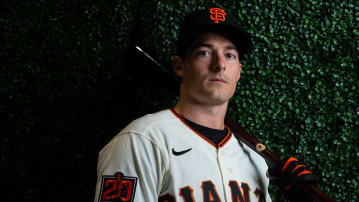 SF Giants outfielder Mike Yastrzemski. (Photo by Rob Tringali/Getty Images)