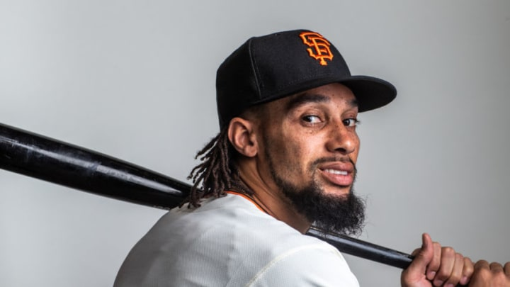 Billy Hamilton of the San Francisco Giants poses for a portrait. (Photo by Rob Tringali/Getty Images)