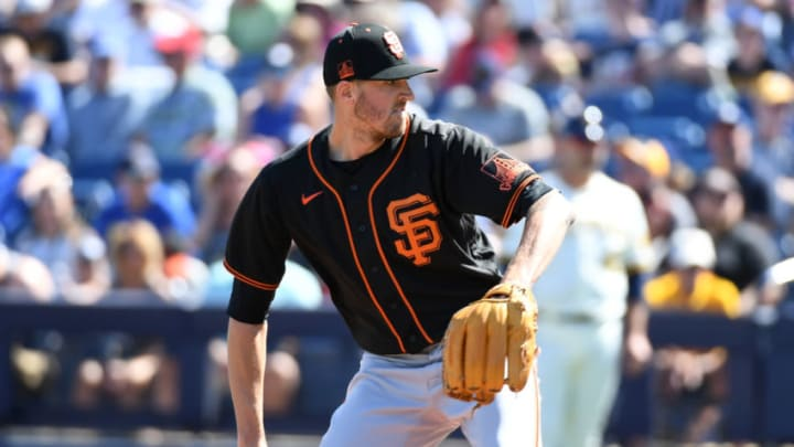 The Yankees are interested in SF Giants pitcher Kevin Gausman (Photo by Norm Hall/Getty Images).