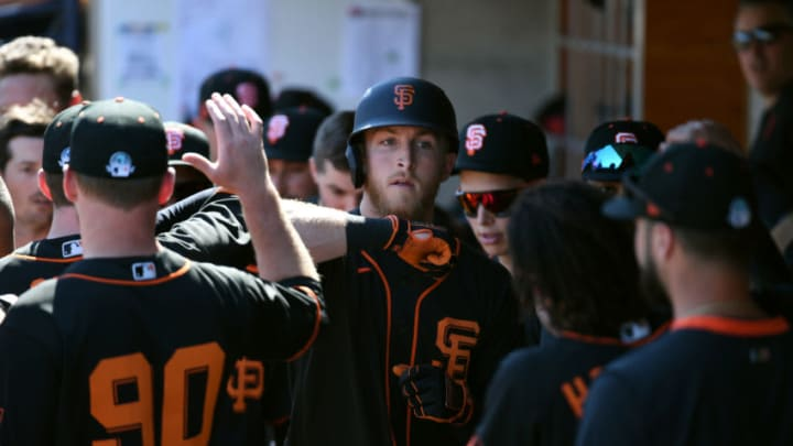 Joe McCarthy of the SF Giants (Photo by Norm Hall/Getty Images)