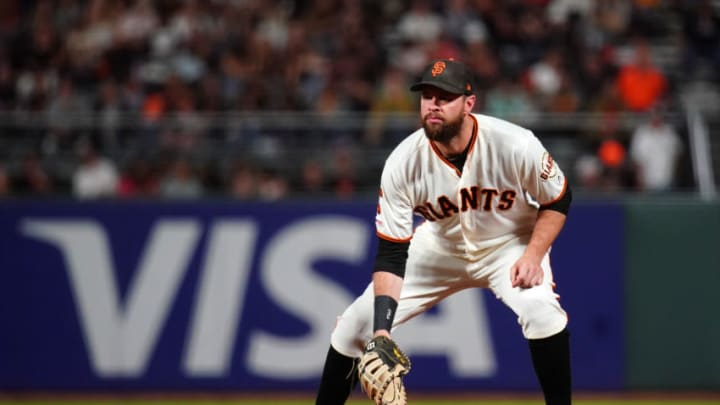 SF Giants first baseman Brandon Belt underwent another surgery on Thursday. (Photo by Daniel Shirey/Getty Images)
