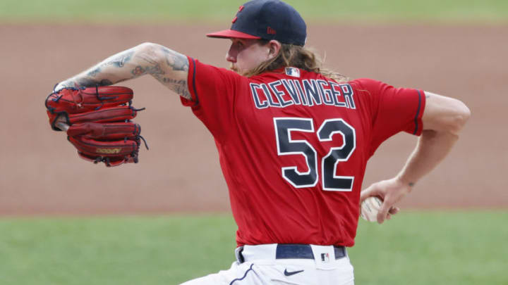 The Padres acquired pitcher Mike Clevinger from Cleveland on Monday. (Photo by Ron Schwane/Getty Images)