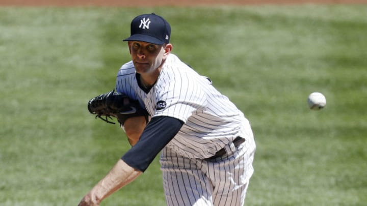 NEW YORK, NEW YORK - AUGUST 20: (NEW YORK DAILIES OUT) James Paxton #65 of the New York Yankees in action against the Tampa Bay Rays at Yankee Stadium on August 20, 2020 in New York City. The Rays defeated the Yankees 10-5. (Photo by Jim McIsaac/Getty Images)