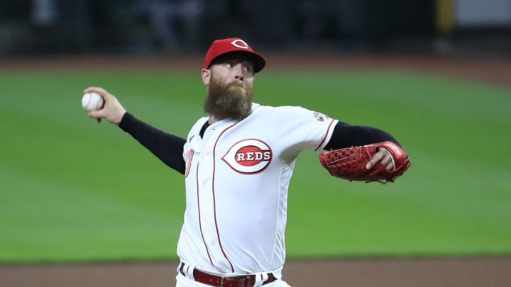 CINCINNATI, OHIO - SEPTEMBER 16: Archie Bradley #23 of the Cincinnati Reds throws a pitch against the Pittsburgh Pirates at Great American Ball Park on September 16, 2020 in Cincinnati, Ohio. (Photo by Andy Lyons/Getty Images)