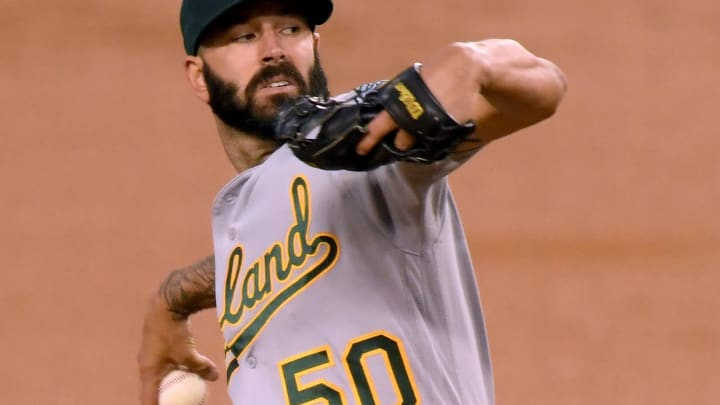 The SF Giants might regret targetting Mike Fiers #50 during free agency. (Photo by Harry How/Getty Images)
