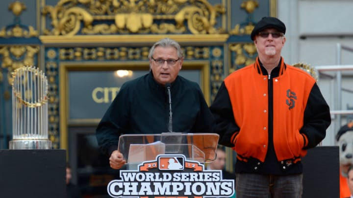 After the SF Giants agreed to a four-year contract extension with KNBR, fans can expect to here plenty of Mike Krukow and Duane Kuiper on 680 AM. (Photo by Thearon W. Henderson/Getty Images)
