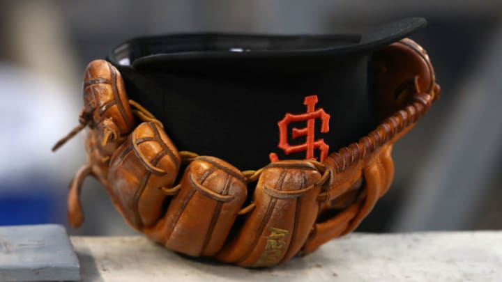 SF Giants hat. (Photo by Victor Decolongon/Getty Images)