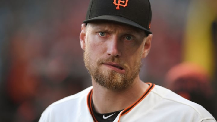 Giants outfielder Hunter Pence. (Photo by Thearon W. Henderson/Getty Images)