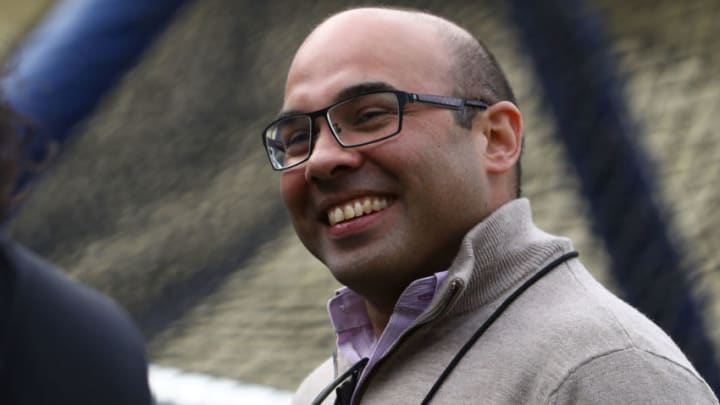 SF Giants president of baseball operations Farhan Zaidi. (Photo by Victor Decolongon/Getty Images)