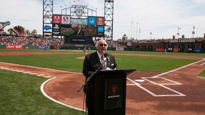 Broadcaster Jon Miller has been a mainstay in SF Giants fans lives for decades. (Photo by Jason O. Watson/Getty Images)