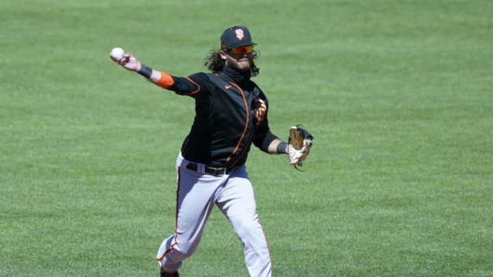 SF Giants shortstop Brandon Crawford had a resurgent 2020 campaign. (Photo by Thearon W. Henderson/Getty Images)