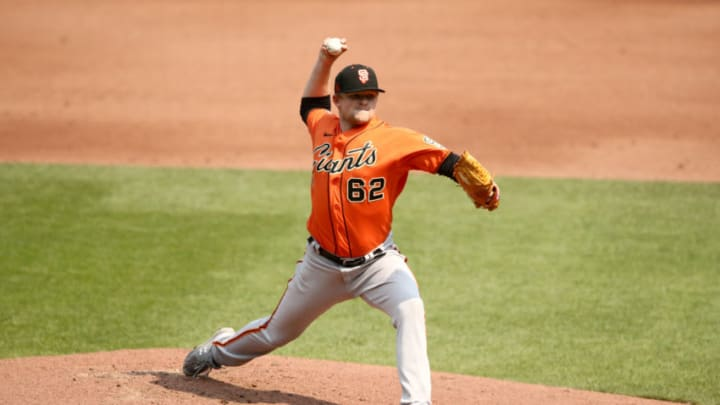 SF Giants right-handed pitcher Logan Webb. (Photo by Ezra Shaw/Getty Images)