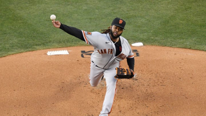 Johnny Cueto of the SF Giants. (Photo by Harry How/Getty Images)