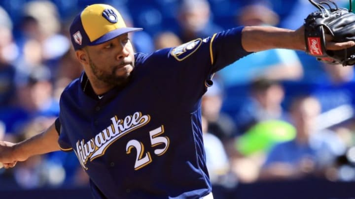 Former Milwaukee Brewers reliever Jay Jackson was promoted to the SF Giants big-league roster on Friday.